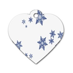 Star Snow Blue Rain Cool Dog Tag Heart (two Sides) by AnjaniArt