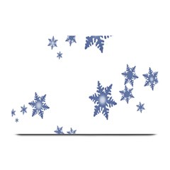Star Snow Blue Rain Cool Plate Mats by AnjaniArt