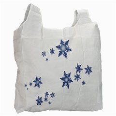 Star Snow Blue Rain Cool Recycle Bag (one Side) by AnjaniArt
