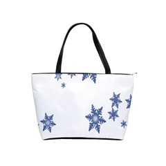 Star Snow Blue Rain Cool Shoulder Handbags by AnjaniArt