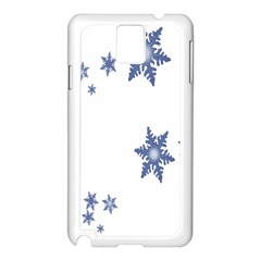 Star Snow Blue Rain Cool Samsung Galaxy Note 3 N9005 Case (white) by AnjaniArt