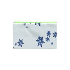 Star Snow Blue Rain Cool Cosmetic Bag (xs) by AnjaniArt