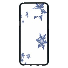 Star Snow Blue Rain Cool Samsung Galaxy S8 Plus Black Seamless Case