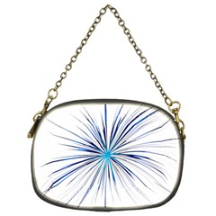 Fireworks Light Blue Space Happy New Year Chain Purses (two Sides)  by AnjaniArt