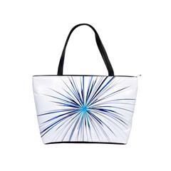 Fireworks Light Blue Space Happy New Year Shoulder Handbags by AnjaniArt