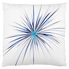 Fireworks Light Blue Space Happy New Year Large Cushion Case (two Sides)
