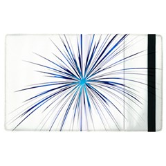 Fireworks Light Blue Space Happy New Year Apple Ipad 3/4 Flip Case by AnjaniArt