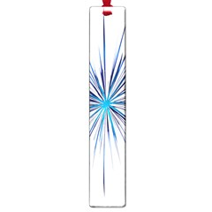 Fireworks Light Blue Space Happy New Year Large Book Marks by AnjaniArt
