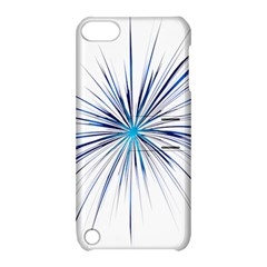 Fireworks Light Blue Space Happy New Year Apple Ipod Touch 5 Hardshell Case With Stand