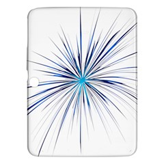Fireworks Light Blue Space Happy New Year Samsung Galaxy Tab 3 (10 1 ) P5200 Hardshell Case  by AnjaniArt