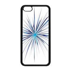 Fireworks Light Blue Space Happy New Year Apple Iphone 5c Seamless Case (black) by AnjaniArt