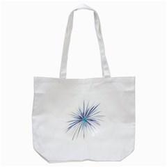 Fireworks Light Blue Space Happy New Year Tote Bag (white) by AnjaniArt