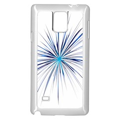 Fireworks Light Blue Space Happy New Year Samsung Galaxy Note 4 Case (white) by AnjaniArt