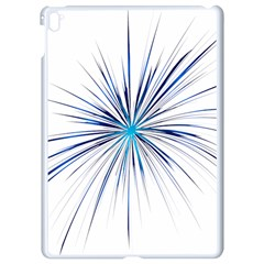 Fireworks Light Blue Space Happy New Year Apple Ipad Pro 9 7   White Seamless Case by AnjaniArt