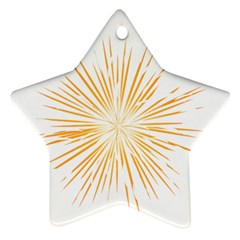 Fireworks Light Yellow Space Happy New Year Ornament (star) by AnjaniArt