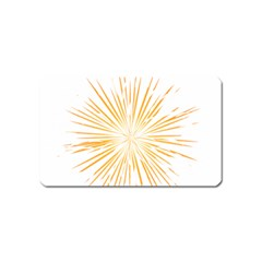 Fireworks Light Yellow Space Happy New Year Magnet (name Card)