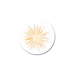 Fireworks Light Yellow Space Happy New Year Golf Ball Marker (4 Pack) by AnjaniArt