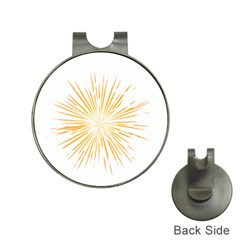 Fireworks Light Yellow Space Happy New Year Hat Clips With Golf Markers