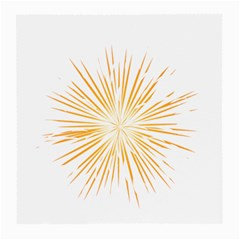 Fireworks Light Yellow Space Happy New Year Medium Glasses Cloth (2 Side) by AnjaniArt