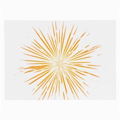 Fireworks Light Yellow Space Happy New Year Large Glasses Cloth (2 Side)
