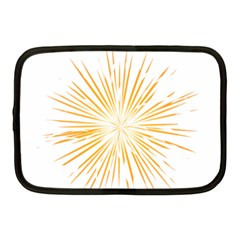 Fireworks Light Yellow Space Happy New Year Netbook Case (medium)  by AnjaniArt