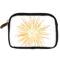 Fireworks Light Yellow Space Happy New Year Digital Camera Cases by AnjaniArt