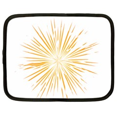 Fireworks Light Yellow Space Happy New Year Netbook Case (xl)