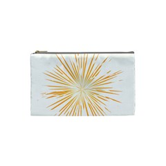 Fireworks Light Yellow Space Happy New Year Cosmetic Bag (small)