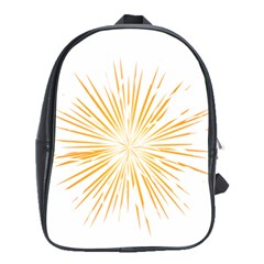 Fireworks Light Yellow Space Happy New Year School Bag (large) by AnjaniArt