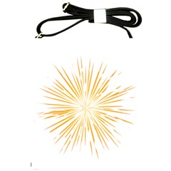 Fireworks Light Yellow Space Happy New Year Shoulder Sling Bags