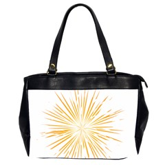 Fireworks Light Yellow Space Happy New Year Office Handbags (2 Sides)  by AnjaniArt