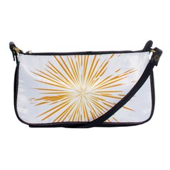 Fireworks Light Yellow Space Happy New Year Shoulder Clutch Bags