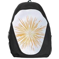 Fireworks Light Yellow Space Happy New Year Backpack Bag by AnjaniArt