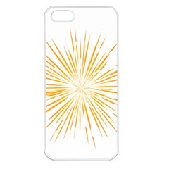 Fireworks Light Yellow Space Happy New Year Apple Iphone 5 Seamless Case (white) by AnjaniArt