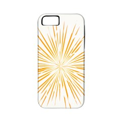 Fireworks Light Yellow Space Happy New Year Apple Iphone 5 Classic Hardshell Case (pc+silicone)