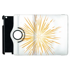 Fireworks Light Yellow Space Happy New Year Apple Ipad 2 Flip 360 Case by AnjaniArt