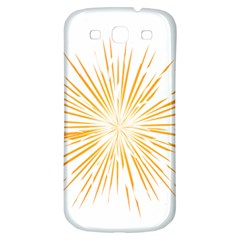 Fireworks Light Yellow Space Happy New Year Samsung Galaxy S3 S Iii Classic Hardshell Back Case by AnjaniArt