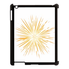 Fireworks Light Yellow Space Happy New Year Apple Ipad 3/4 Case (black)