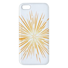 Fireworks Light Yellow Space Happy New Year Apple Iphone 5 Premium Hardshell Case by AnjaniArt