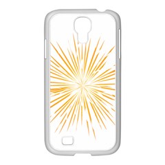 Fireworks Light Yellow Space Happy New Year Samsung Galaxy S4 I9500/ I9505 Case (white)