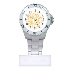Fireworks Light Yellow Space Happy New Year Plastic Nurses Watch by AnjaniArt