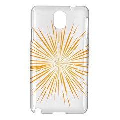 Fireworks Light Yellow Space Happy New Year Samsung Galaxy Note 3 N9005 Hardshell Case by AnjaniArt