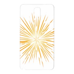 Fireworks Light Yellow Space Happy New Year Samsung Galaxy Note 3 N9005 Hardshell Back Case by AnjaniArt