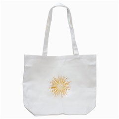 Fireworks Light Yellow Space Happy New Year Tote Bag (white) by AnjaniArt