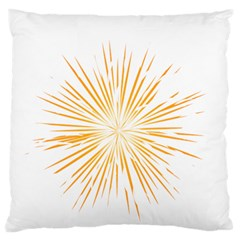 Fireworks Light Yellow Space Happy New Year Standard Flano Cushion Case (one Side)