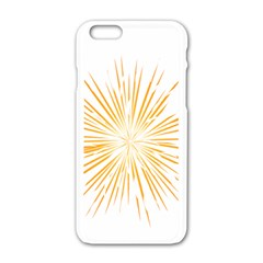 Fireworks Light Yellow Space Happy New Year Apple Iphone 6/6s White Enamel Case by AnjaniArt