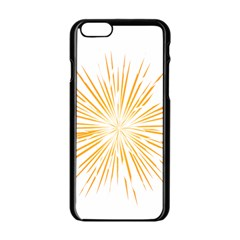 Fireworks Light Yellow Space Happy New Year Apple Iphone 6/6s Black Enamel Case by AnjaniArt