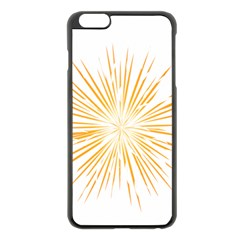 Fireworks Light Yellow Space Happy New Year Apple Iphone 6 Plus/6s Plus Black Enamel Case by AnjaniArt
