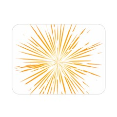 Fireworks Light Yellow Space Happy New Year Double Sided Flano Blanket (mini)  by AnjaniArt