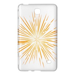 Fireworks Light Yellow Space Happy New Year Samsung Galaxy Tab 4 (7 ) Hardshell Case